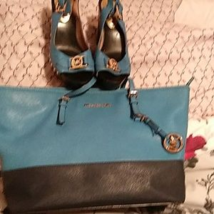 Shoulder bag and shoes